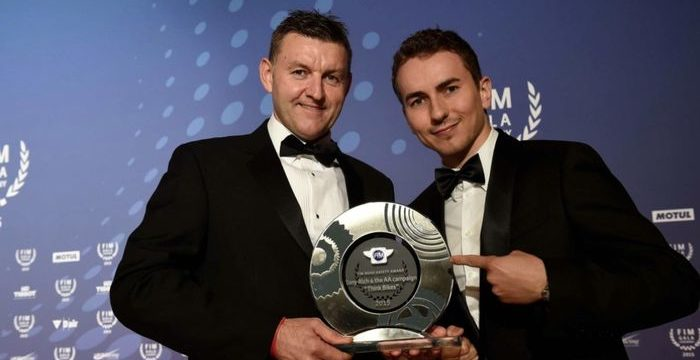 club news think bikes creator tony rich given fim road safety award